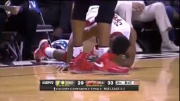 Lance Stephenson SLAPS Norris Cole in the Face - Game 6