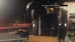 Watch: Tracy Morgan CAR CRASH Scene with 18 Wheeler Walmart Truck